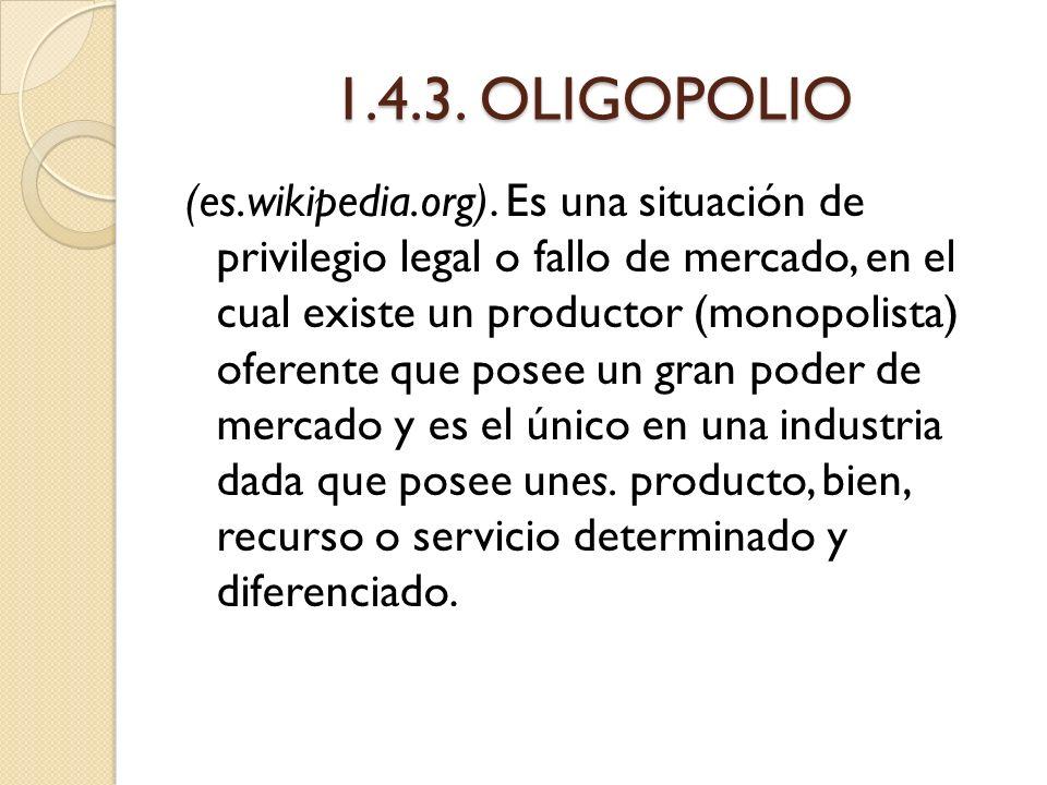 1.4.3. OLIGOPOLIO