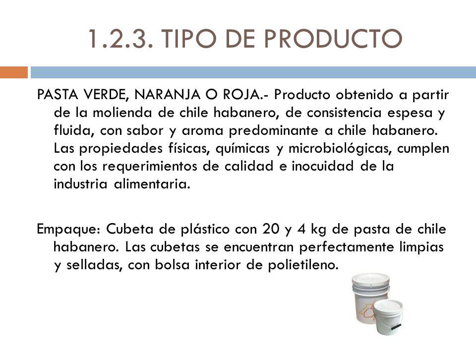 1.2.3. TIPO DE PRODUCTO