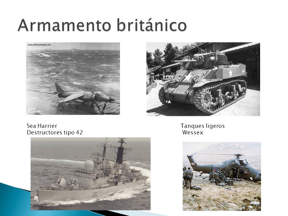 Armamento británico Sea Harrier Tanques ligeros