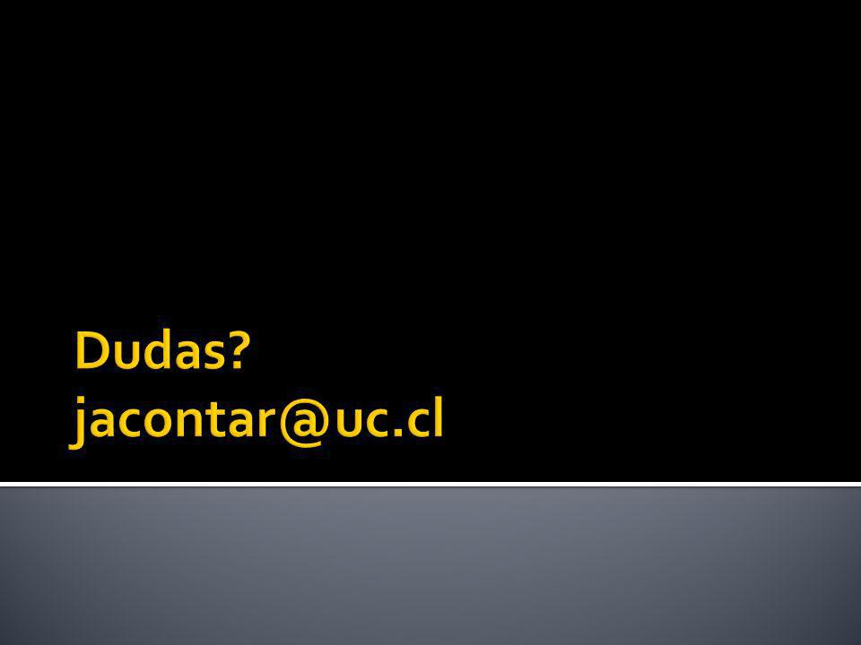 Dudas jacontar@uc.cl