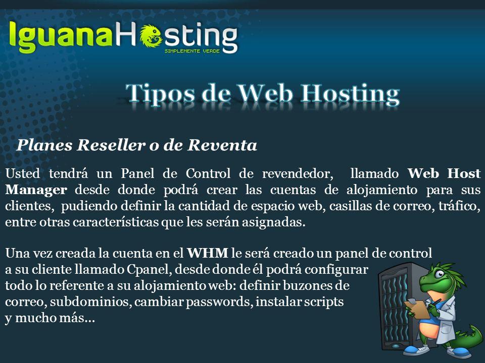 Tipos de Web Hosting Planes Reseller o de Reventa