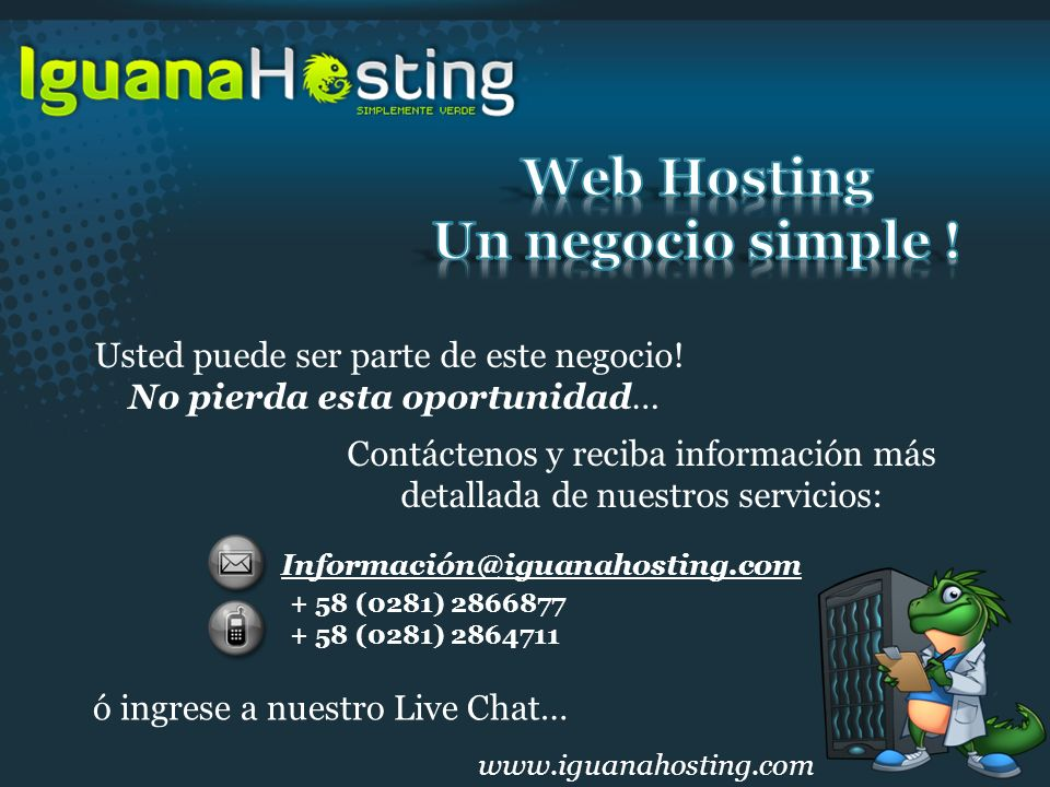Web Hosting Un negocio simple !