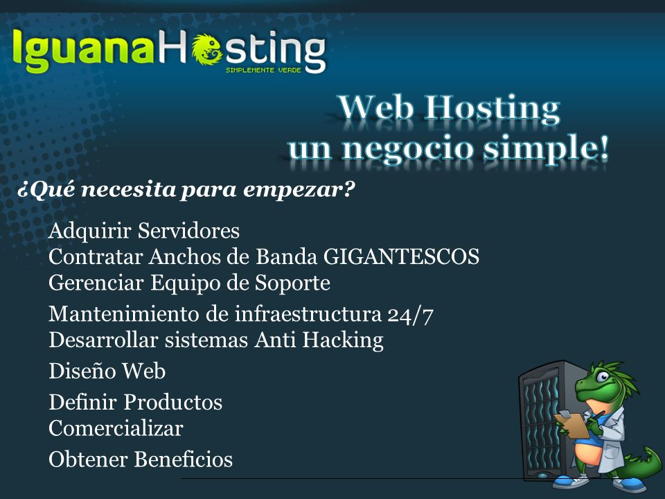 Web Hosting un negocio simple!