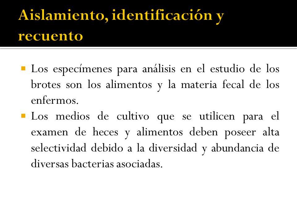 Aislamiento, identificación y recuento