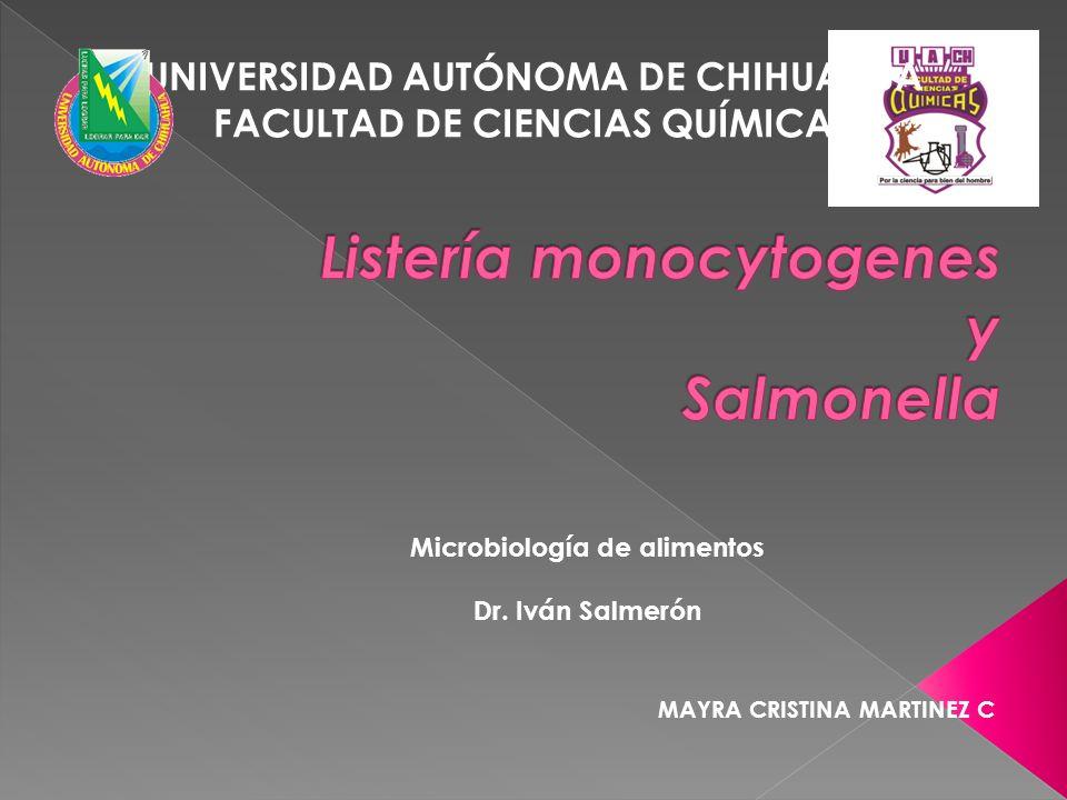 Listería monocytogenes y Salmonella