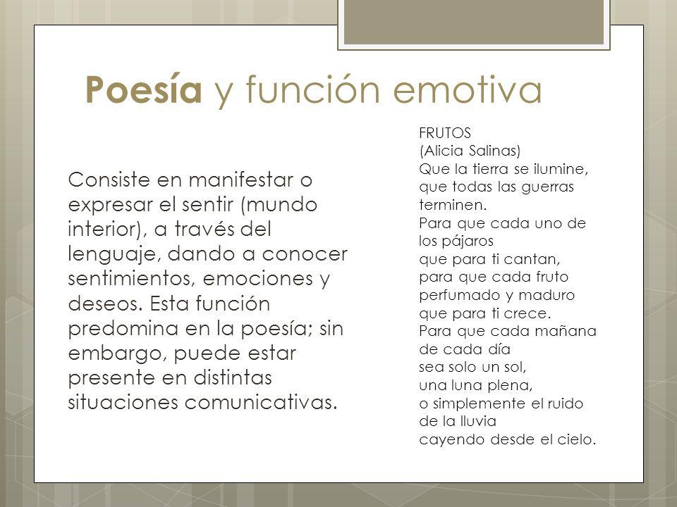 Poesía y función emotiva