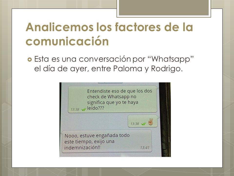 Analicemos los factores de la comunicación
