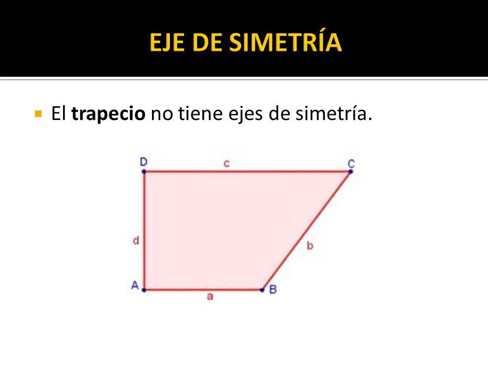 EJE DE SIMETRÍA El trapecio no tiene ejes de simetría.