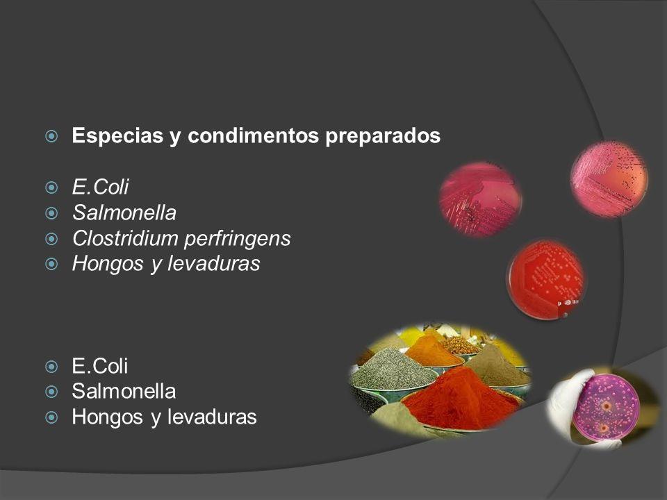 Especias y condimentos preparados