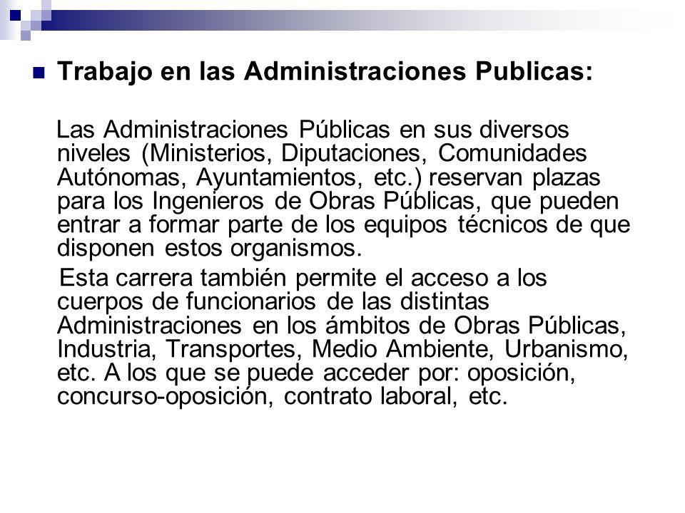 Trabajo en las Administraciones Publicas: