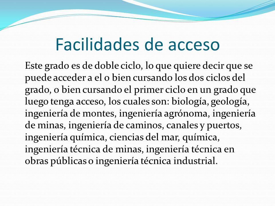 Facilidades de acceso