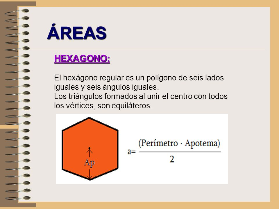 ÁREAS HEXAGONO: