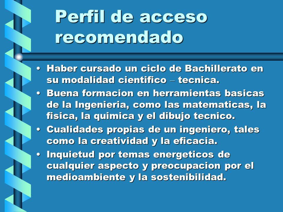 Perfil de acceso recomendado