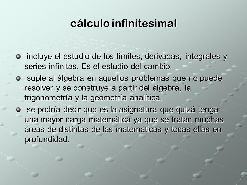 cálculo infinitesimal