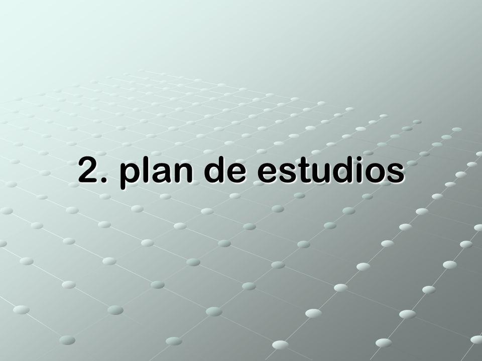2. plan de estudios