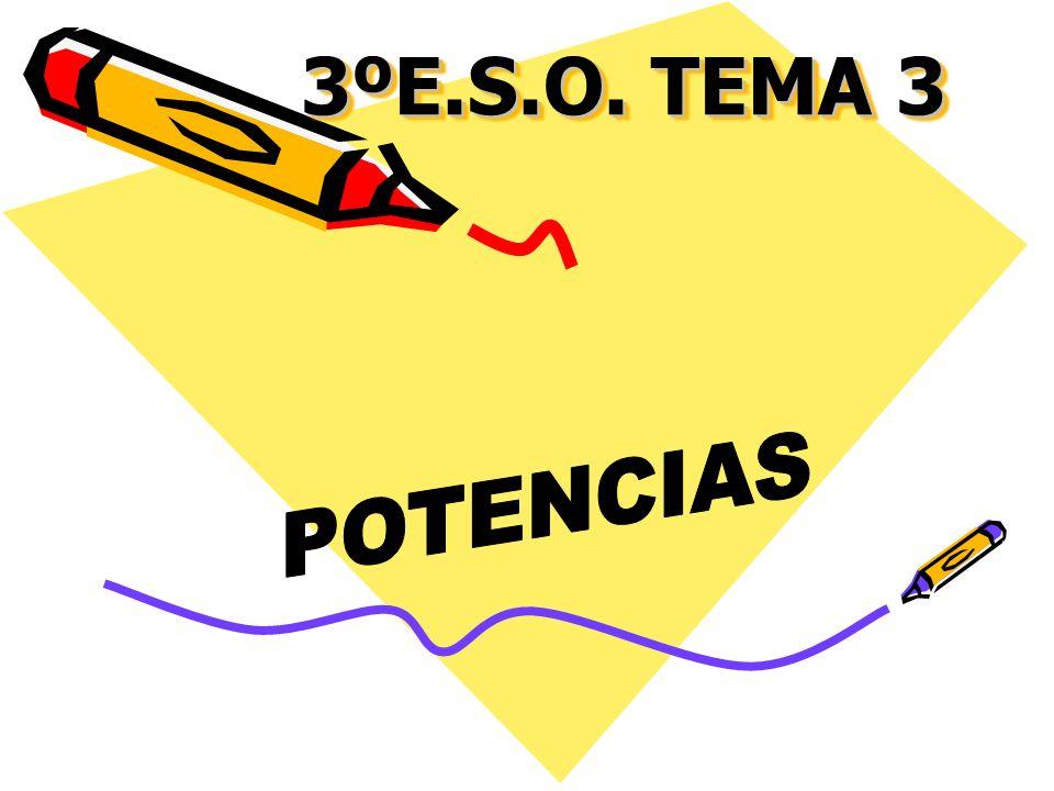 3ºE.S.O. TEMA 3 POTENCIAS