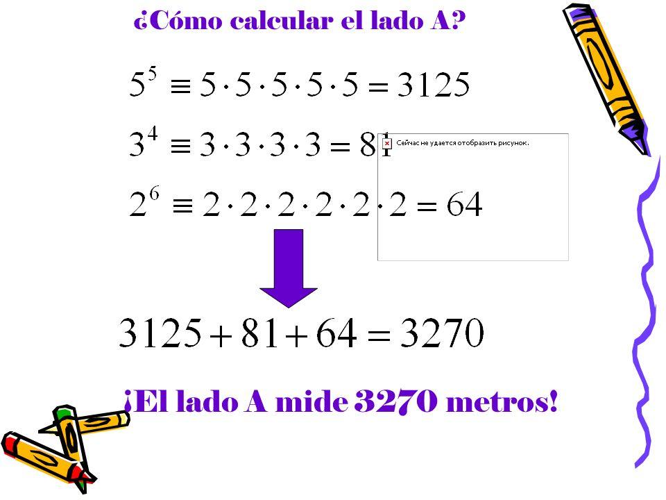 ¿Cómo calcular el lado A