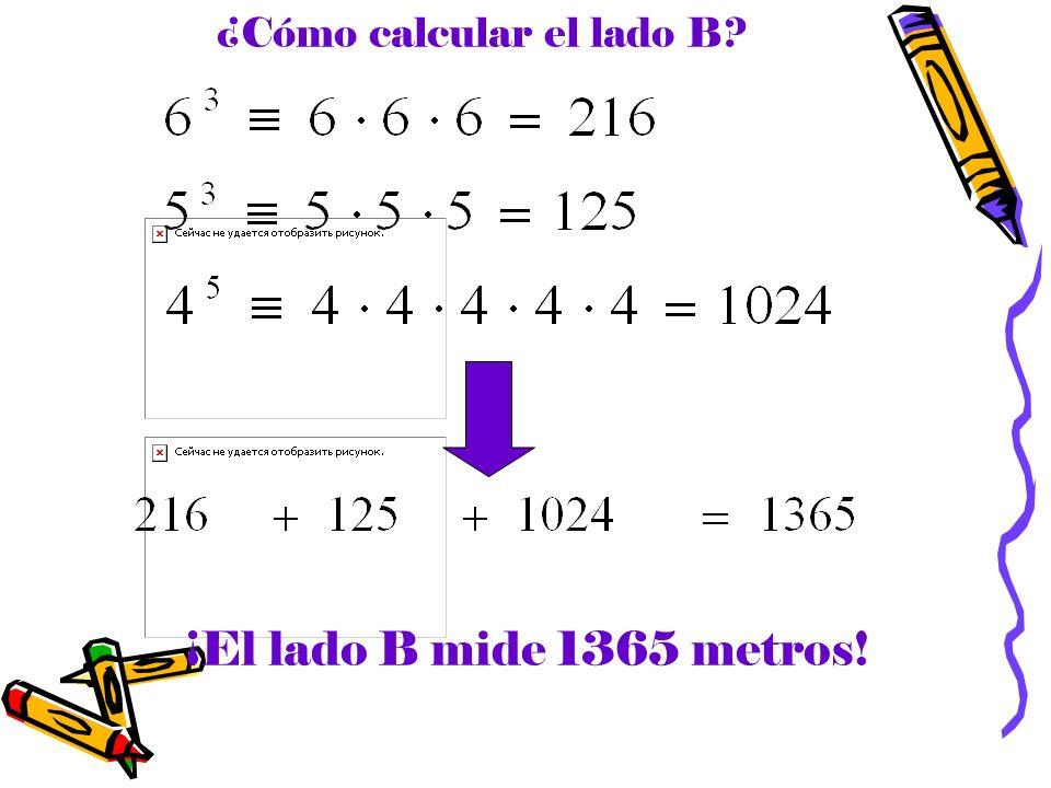 ¿Cómo calcular el lado B