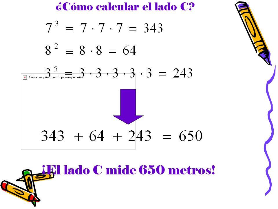 ¿Cómo calcular el lado C