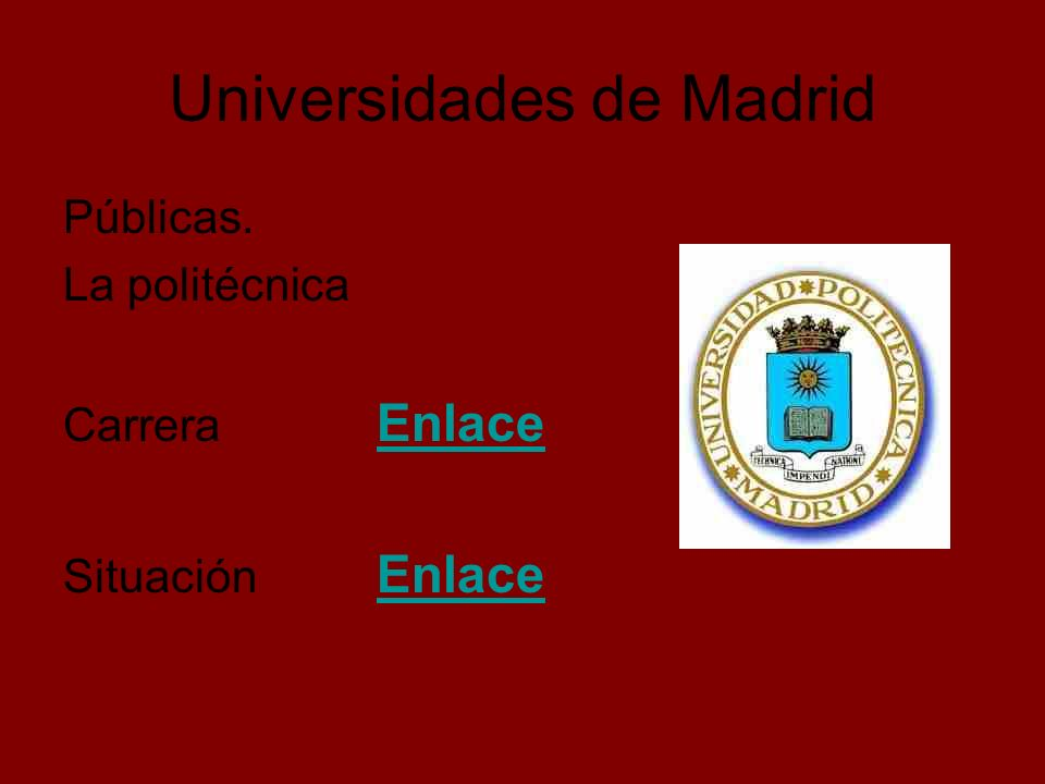 Universidades de Madrid