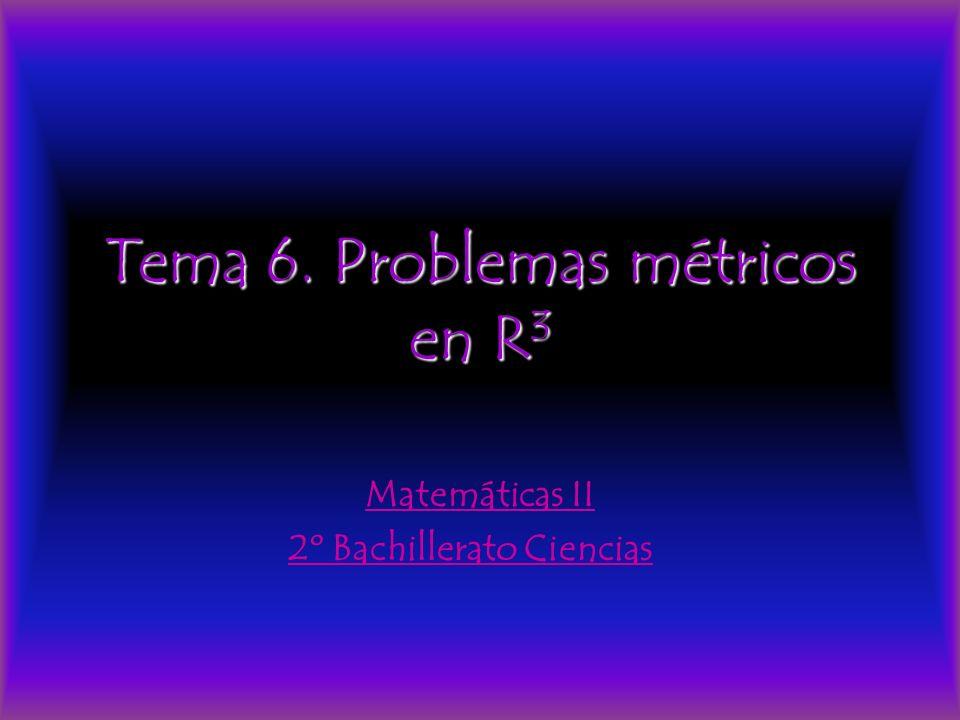 Tema 6. Problemas métricos en R3