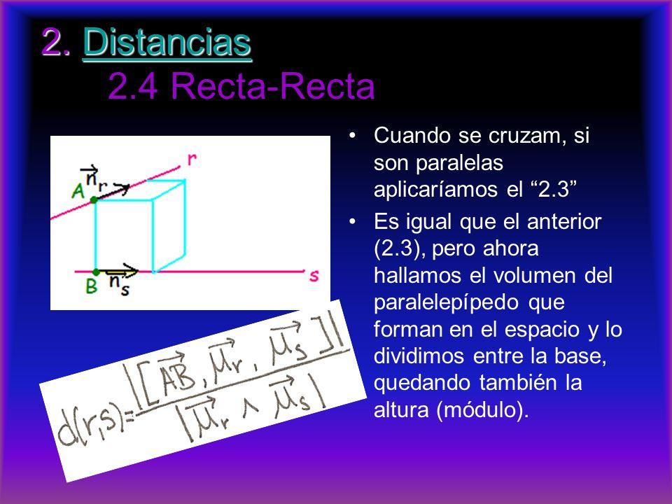 2. Distancias 2.4 Recta-Recta
