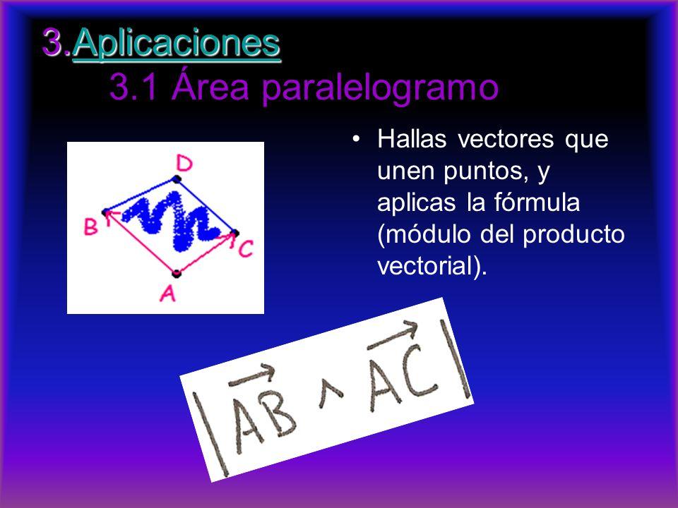 3.Aplicaciones 3.1 Área paralelogramo