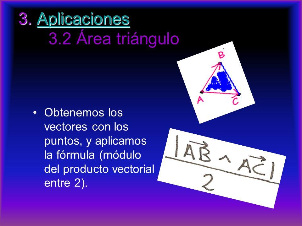 3. Aplicaciones 3.2 Área triángulo