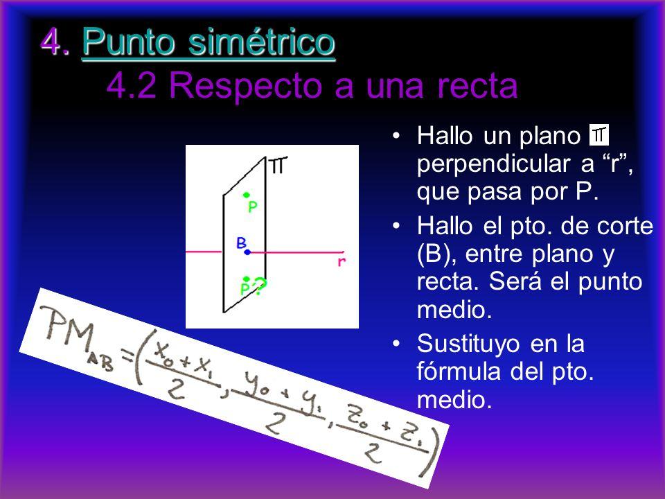 4. Punto simétrico 4.2 Respecto a una recta