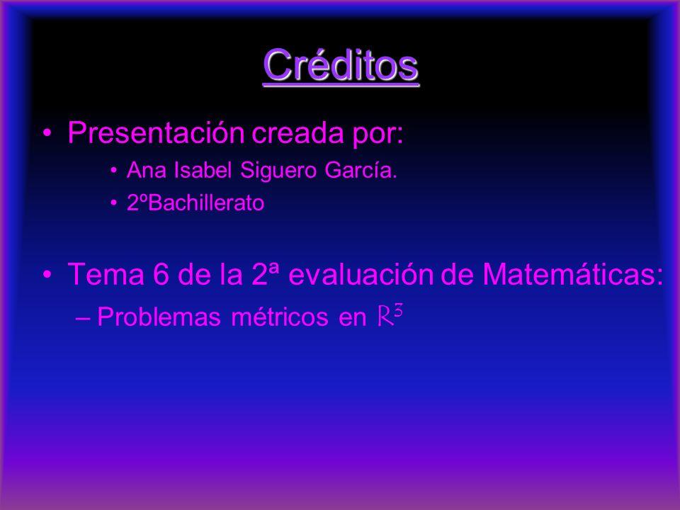 Créditos Presentación creada por: