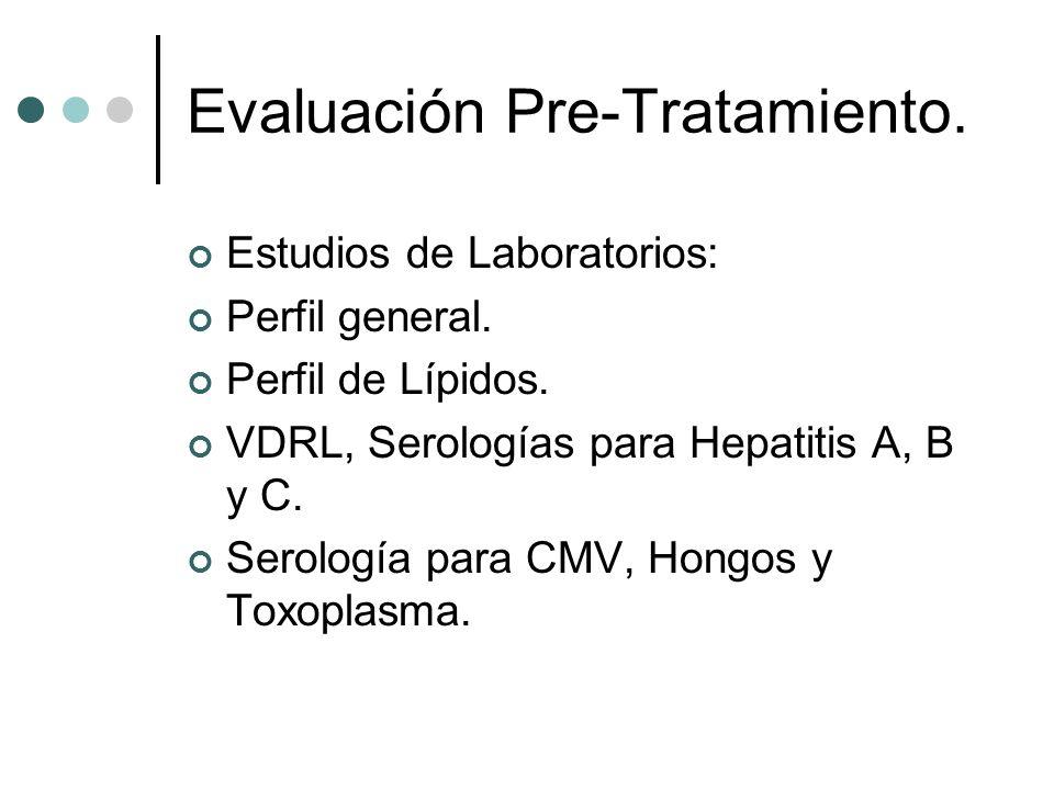Evaluación Pre-Tratamiento.