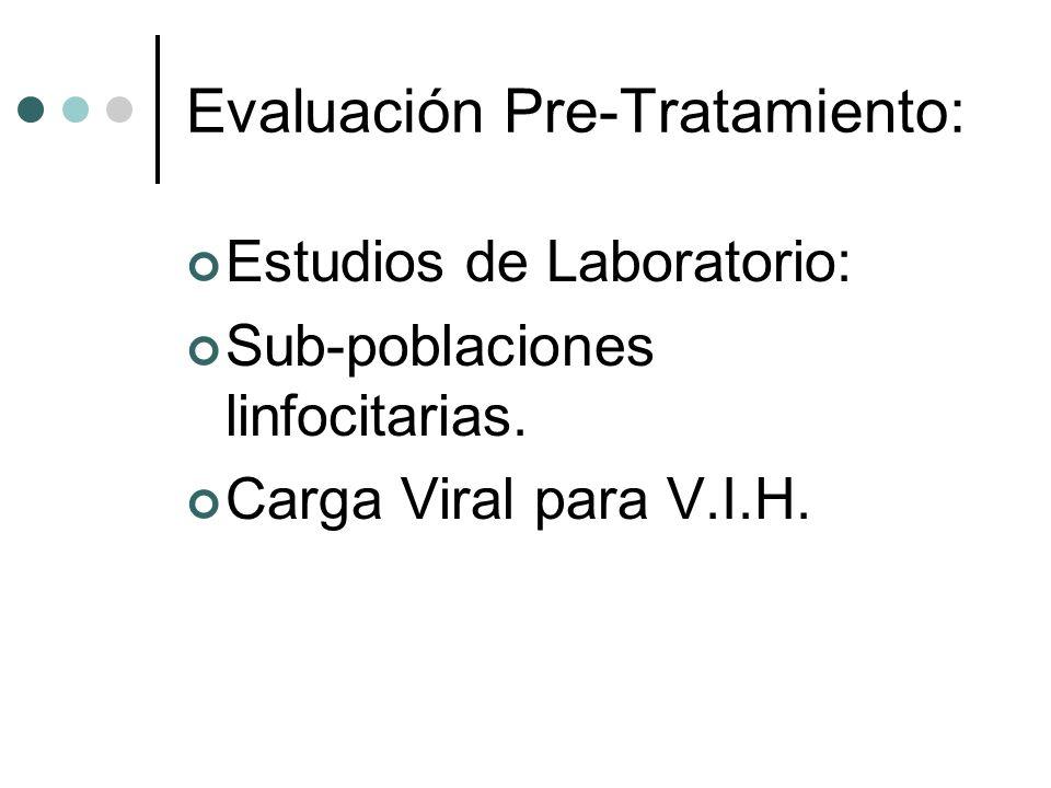 Evaluación Pre-Tratamiento: