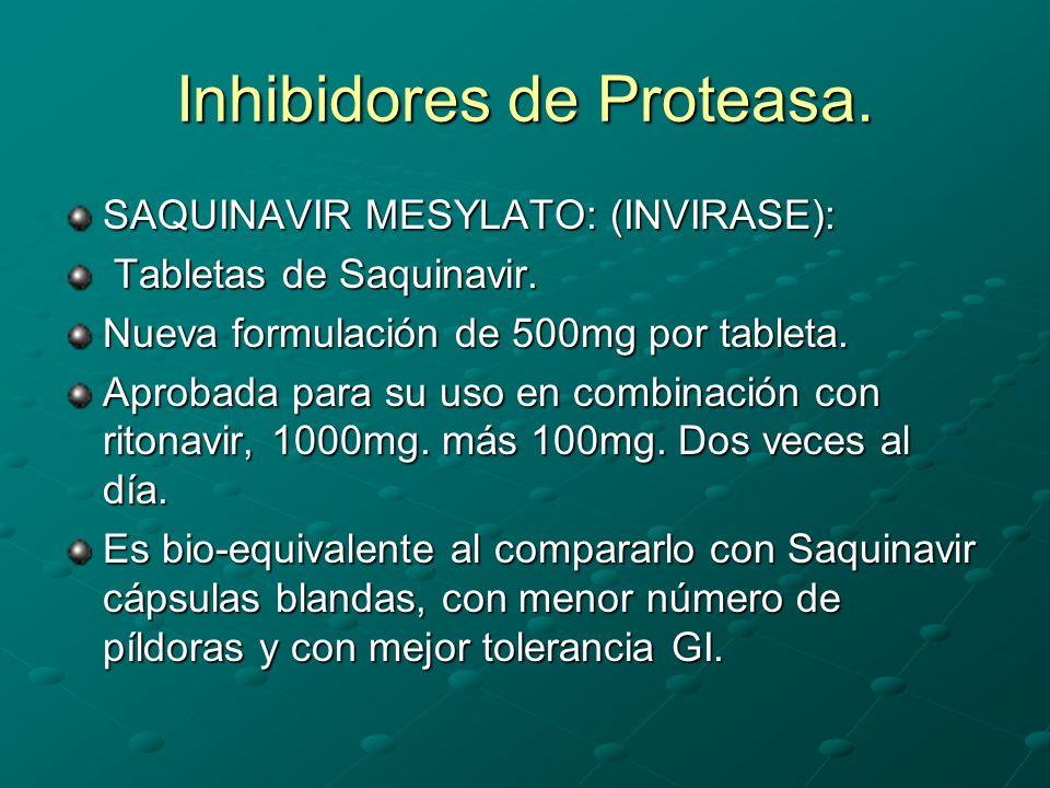 Inhibidores de Proteasa.