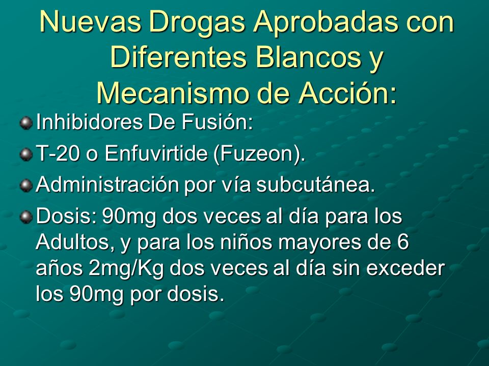 Nuevas Drogas Aprobadas con Diferentes Blancos y Mecanismo de Acción: