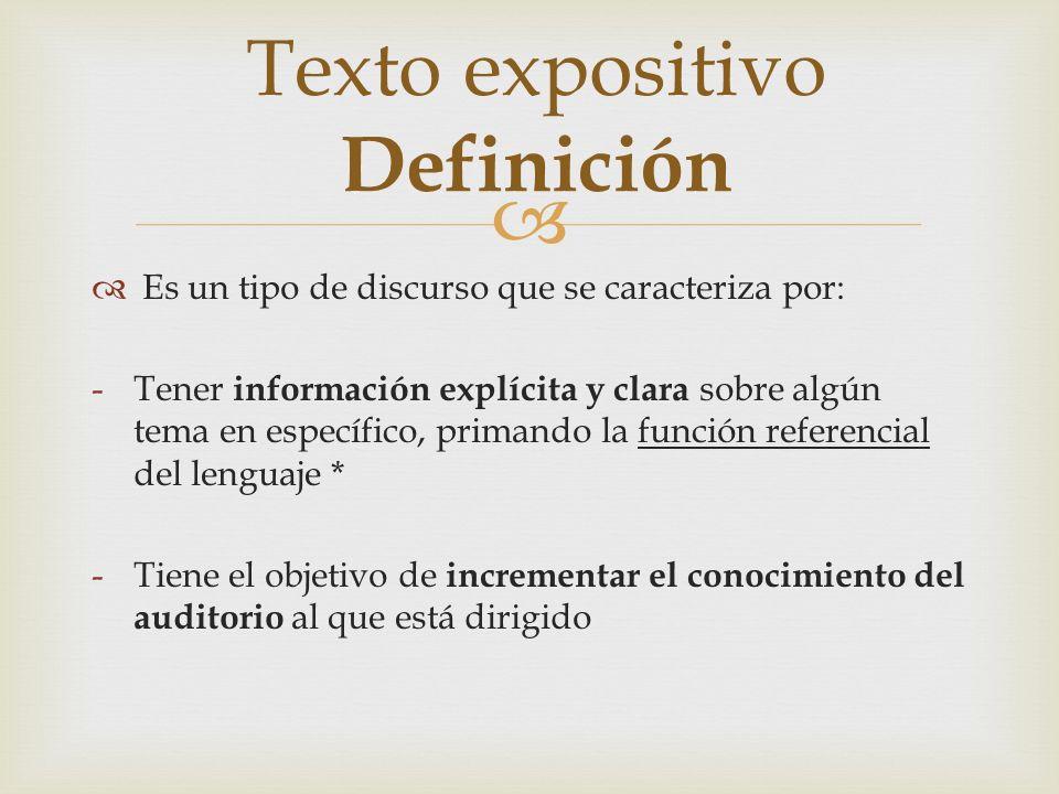 Texto expositivo Definición