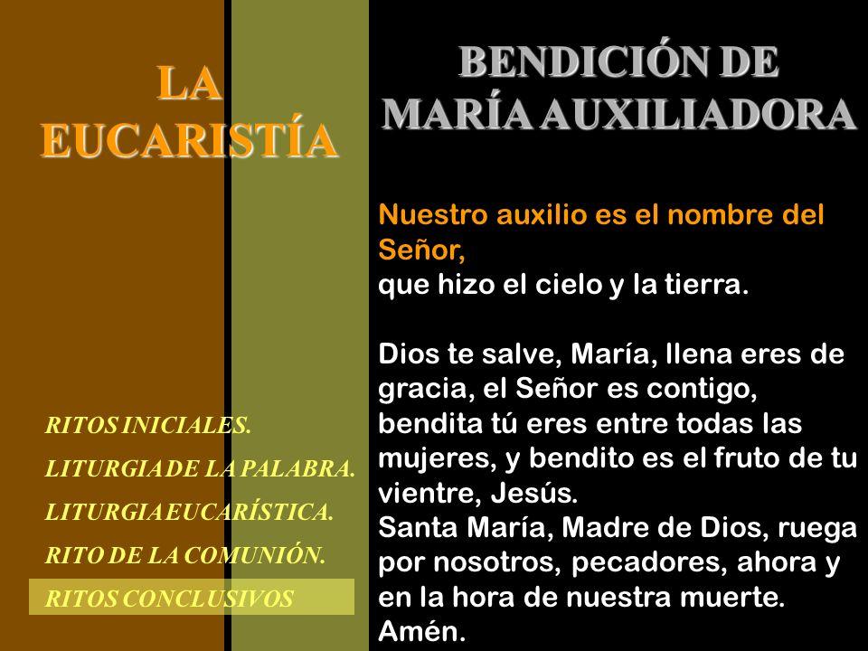 BENDICIÓN DE MARÍA AUXILIADORA