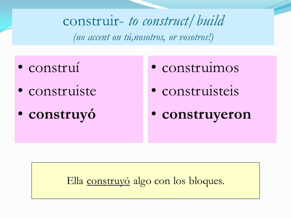 construir- to construct/build