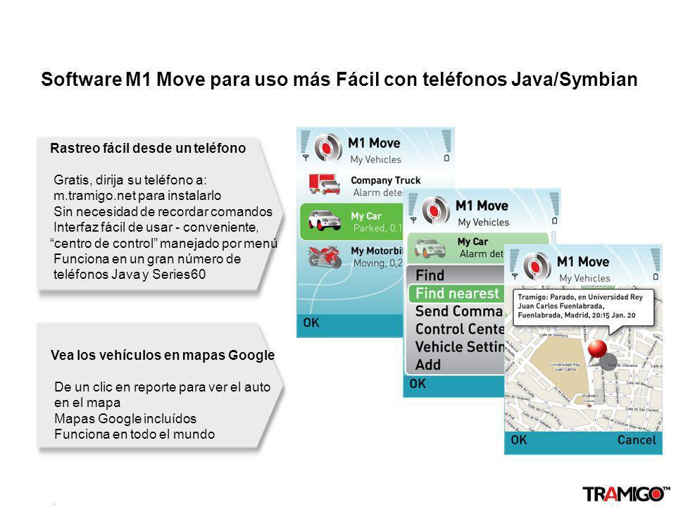 Software M1 Move para uso más Fácil con teléfonos Java/Symbian
