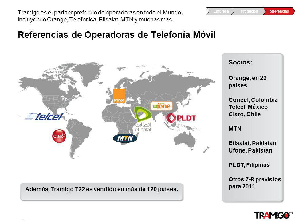 Referencias de Operadoras de Telefonía Móvil
