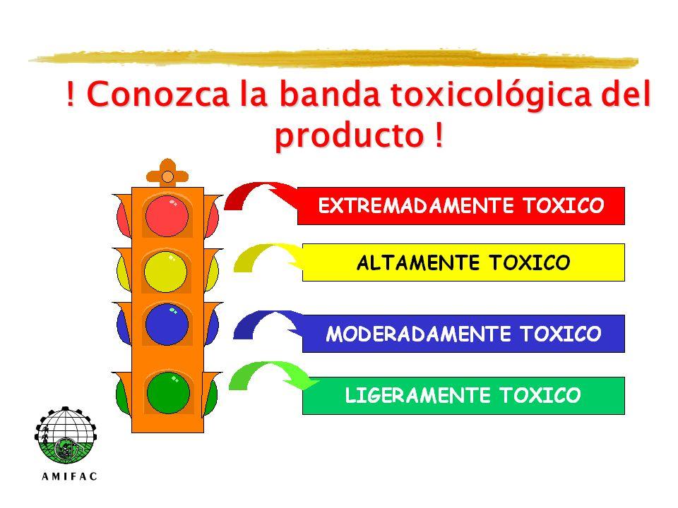 ! Conozca la banda toxicológica del producto !