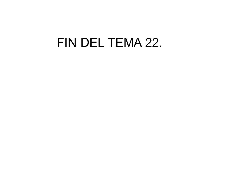 FIN DEL TEMA 22.