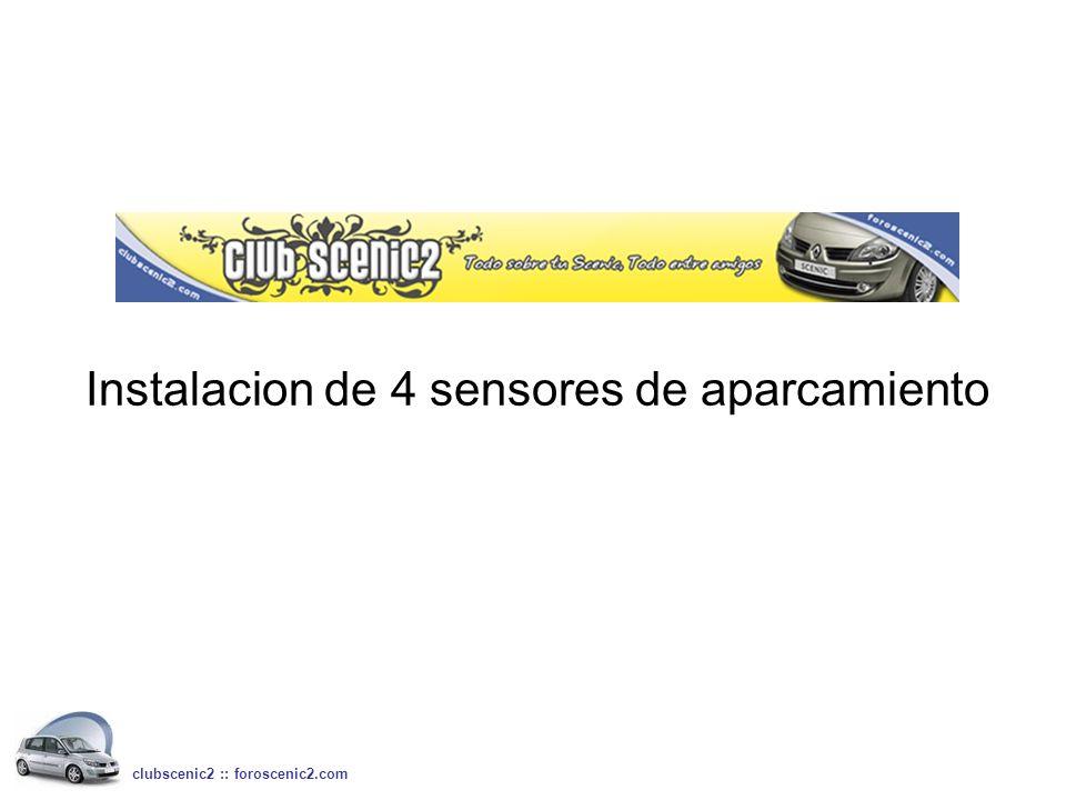 Instalacion de 4 sensores de aparcamiento