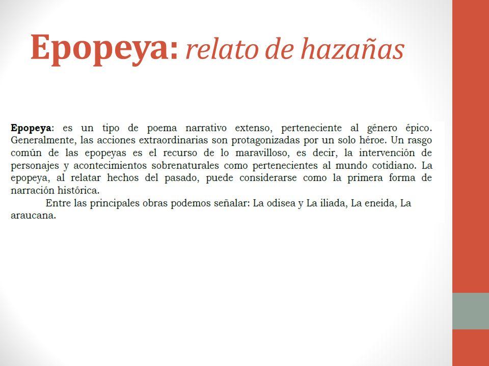 Epopeya: relato de hazañas