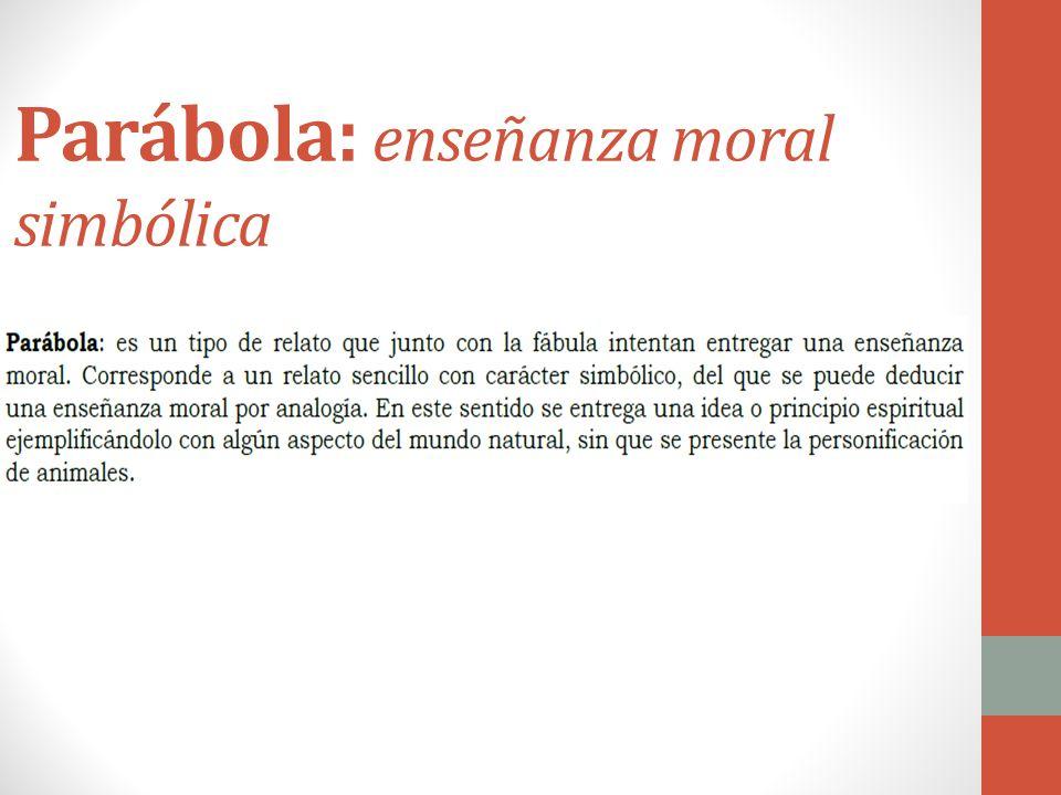 Parábola: enseñanza moral simbólica