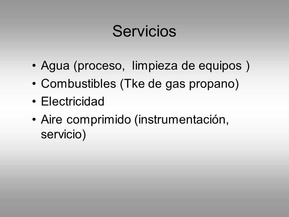 Servicios Agua (proceso, limpieza de equipos )