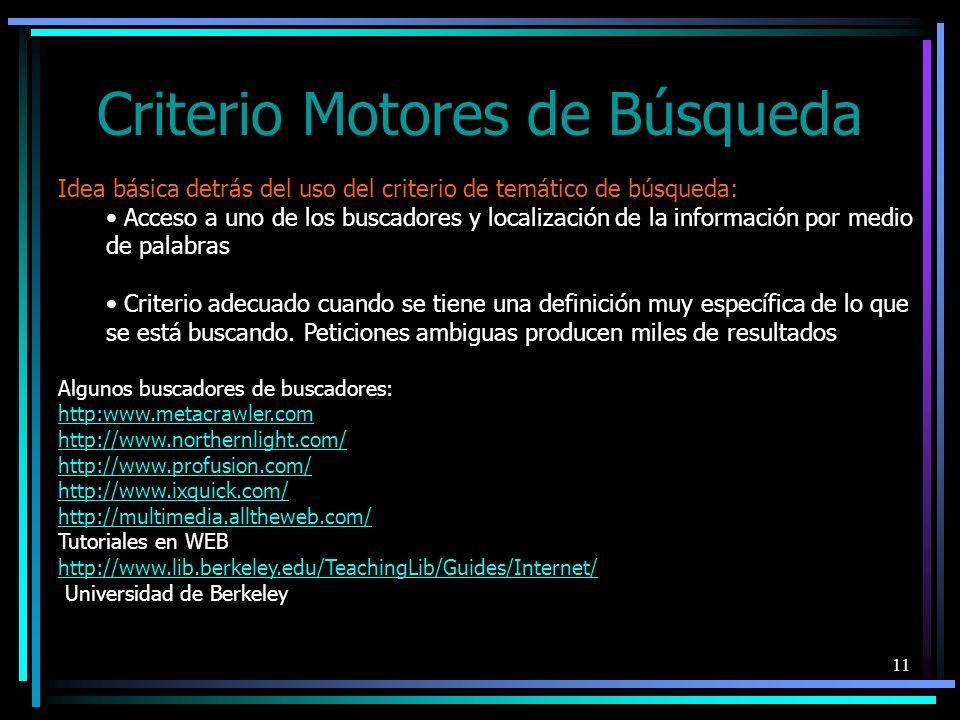 Criterio Motores de Búsqueda