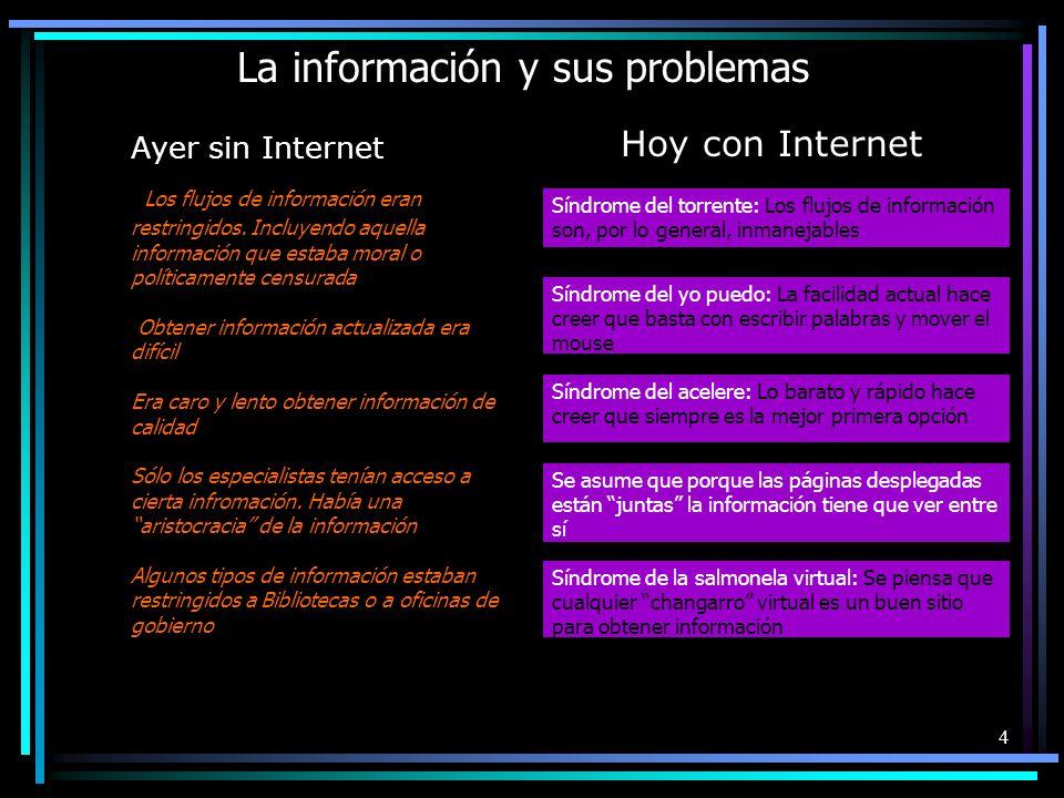La información y sus problemas