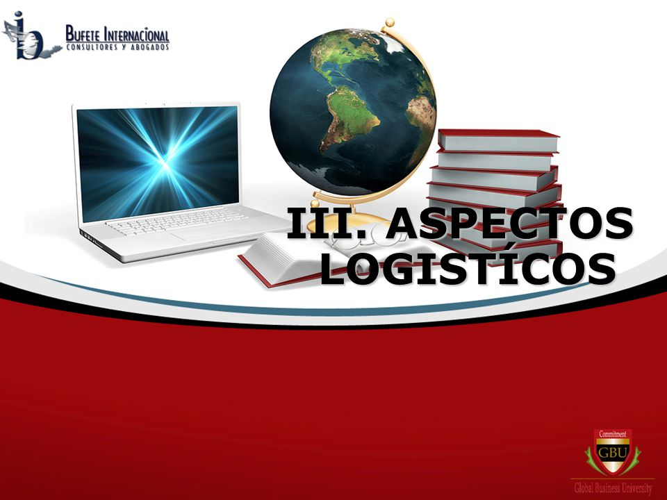 III. ASPECTOS LOGISTÍCOS