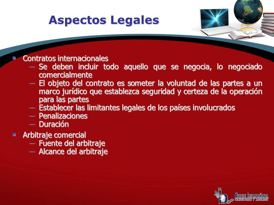 Aspectos Legales Contratos internacionales