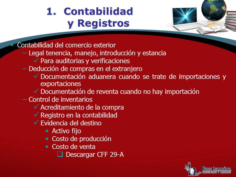 Contabilidad y Registros
